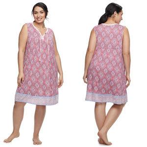 Croft & Barrow Sleeveless Nightgown Plus Size 4X